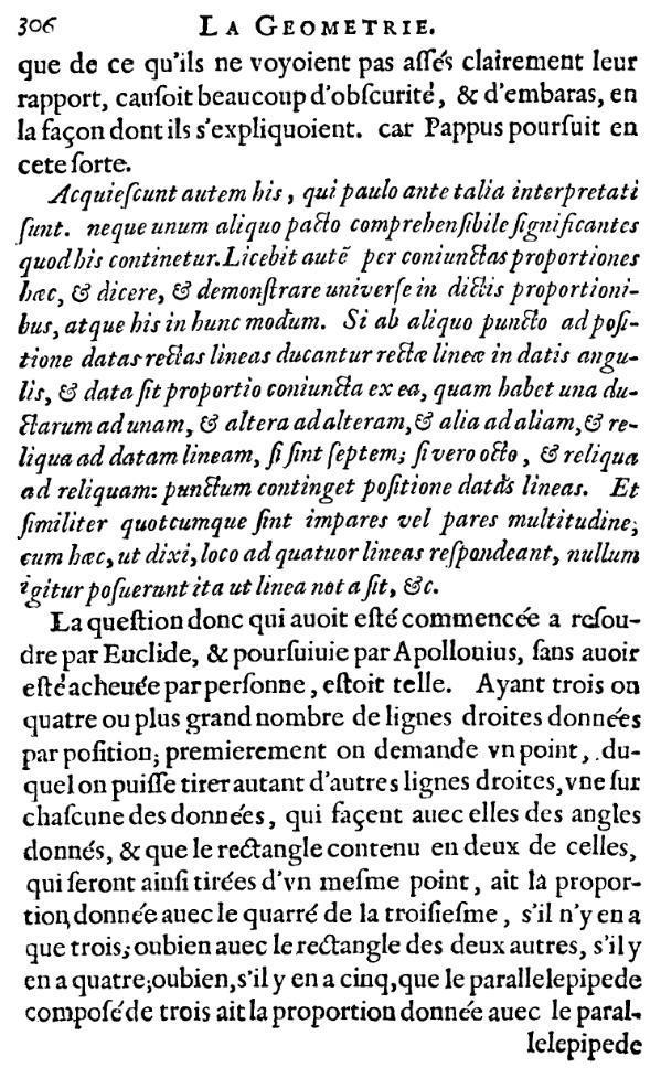La Géométrie - Page 306