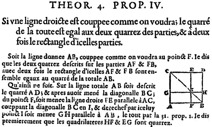 Euclide : somme des carrés