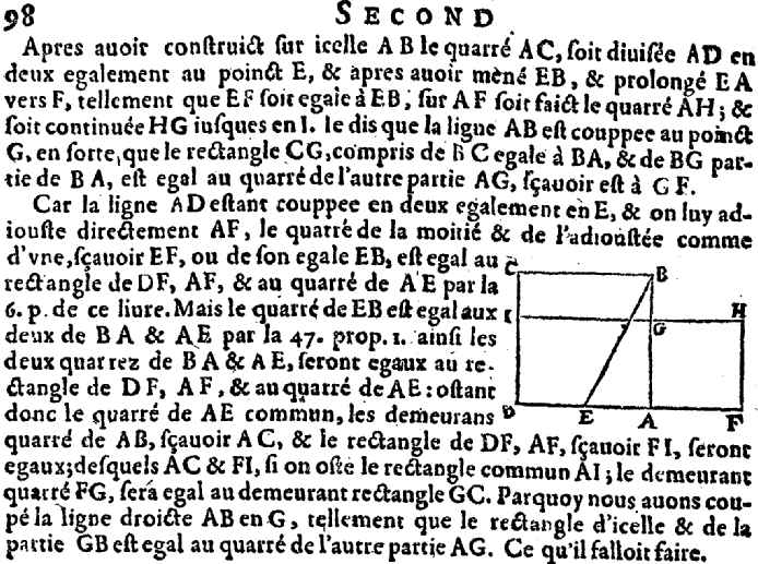 Elements d'Euclide page 98 - bnf Gallica