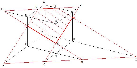Sections planes d 39 un cube - Comment construire un trapeze ...