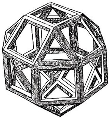 polyèdre de l'espace - rhombicuboctaèdre de Vinci