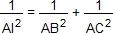 1/AI²=1/AB²+1/AC²