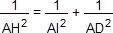AH²=1/AI²+1/AD²