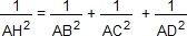 1/AH²=1/AB²+1/AC²+1/AD²